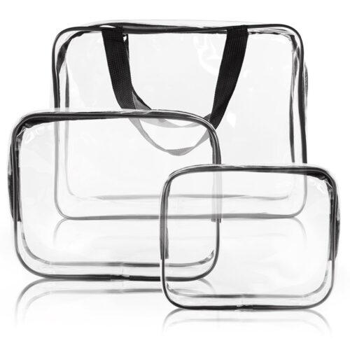 Waterproof Vinyl PVC Cosmetic Makeup Bags
