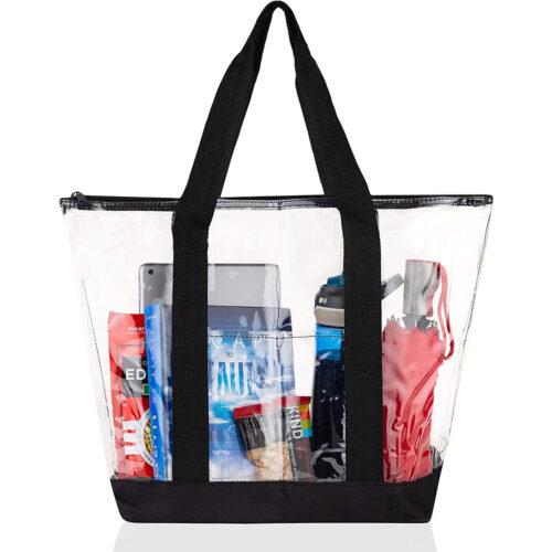 Clear Vinyl Tote Bags Shoulder Handbag