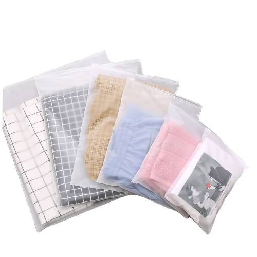 Custom Frosted Reclosable Poly Plastic Bags