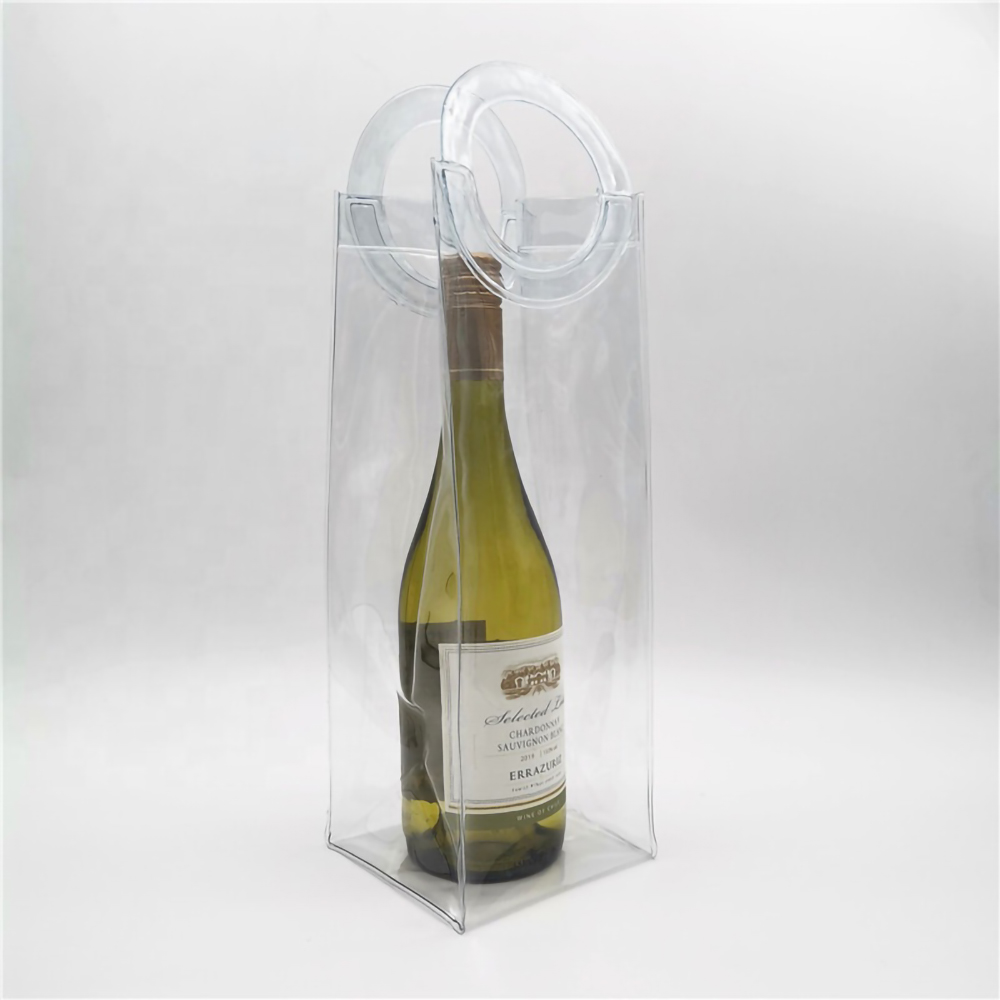 Customized Logo PVC Wine Cooler Ice Bags
