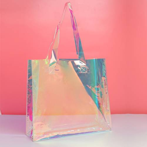 Laser Shopping Pvc Tote Bag
