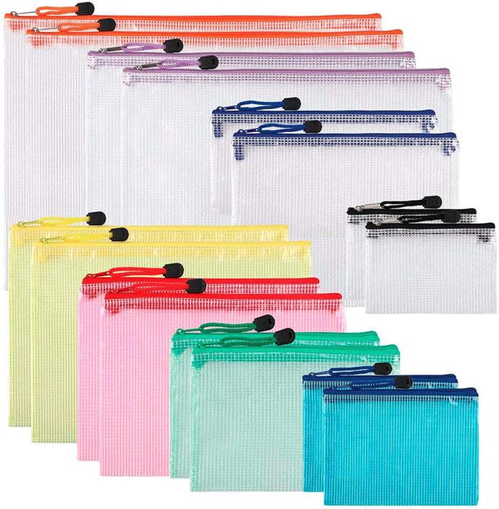 Waterproof Clear PVC Zipper File Bags